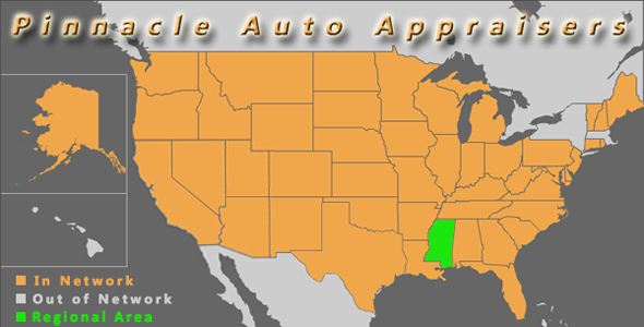 map mississippi pinnacle auto appraisal appraiser diminished value inspection